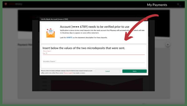 Verify Payment Method